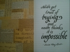 Never think impossible: Little Women quotes #4